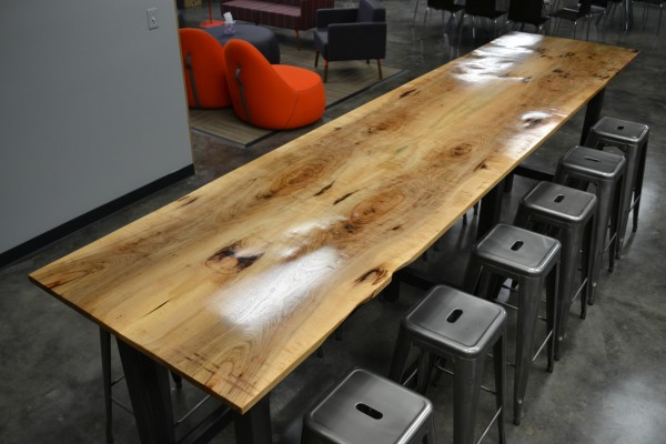 Book-matched Pecan Break Room Table