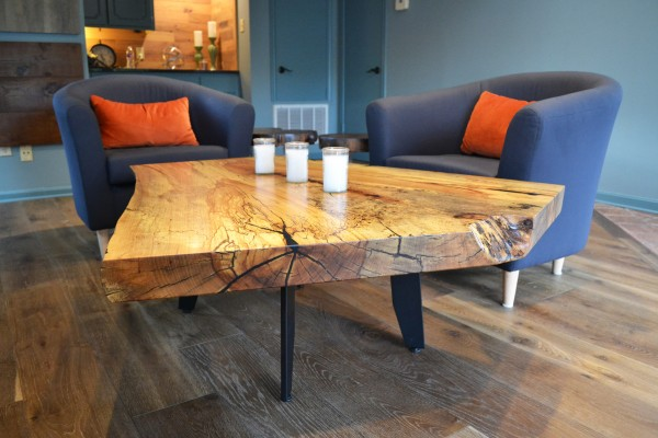 Spaulted Pecan crotch Coffee Table