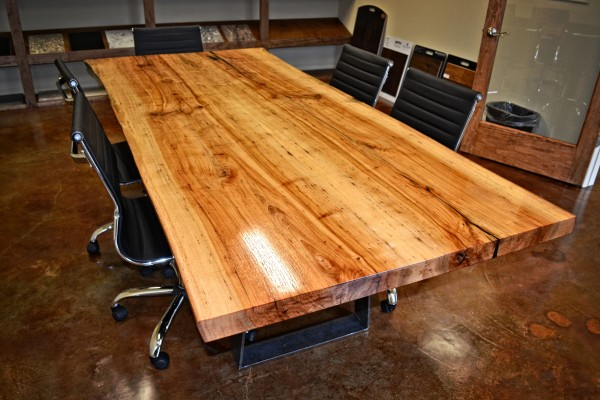 Timber Homes Book-matched Pecan Conference Table