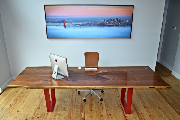 Book-matched Walnut Executive Desk