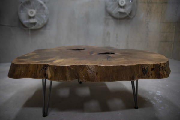 Chappell-Gilley Pecan disc coffee table